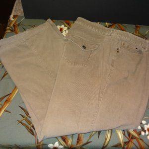 Liz Claiborne Tan Stretch Boot Cut Corduroy Jeans